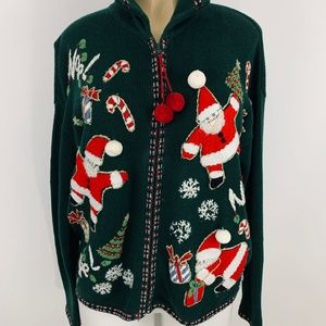Sweaters - Green Women's Ugly Christmas Sweater Size S